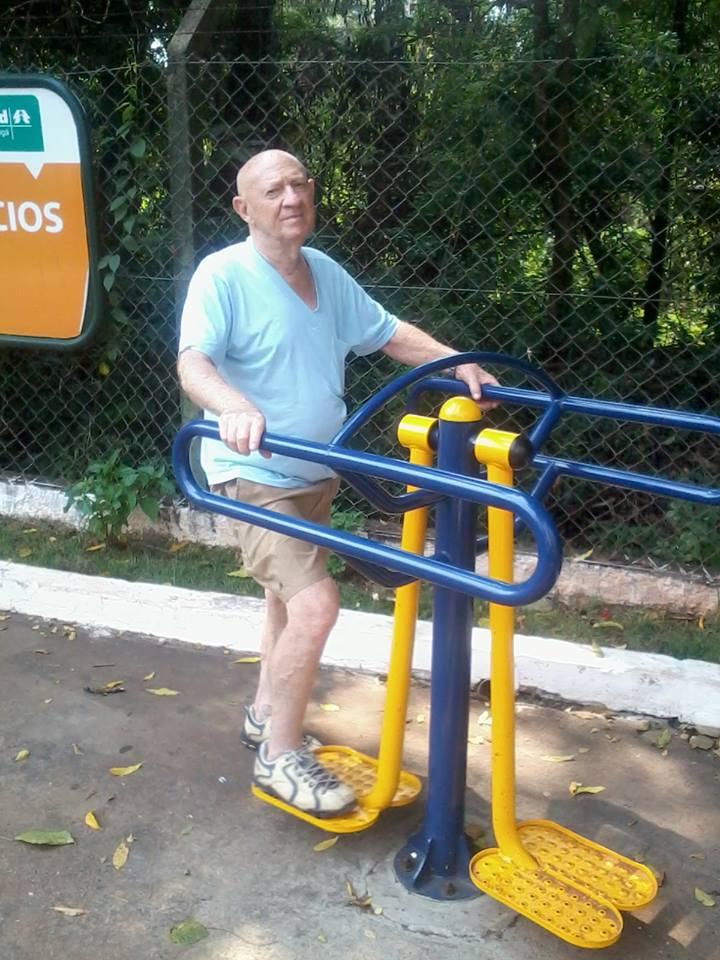 Ivo Ferraro se exercitando (Foto: Gustavo Rosas)